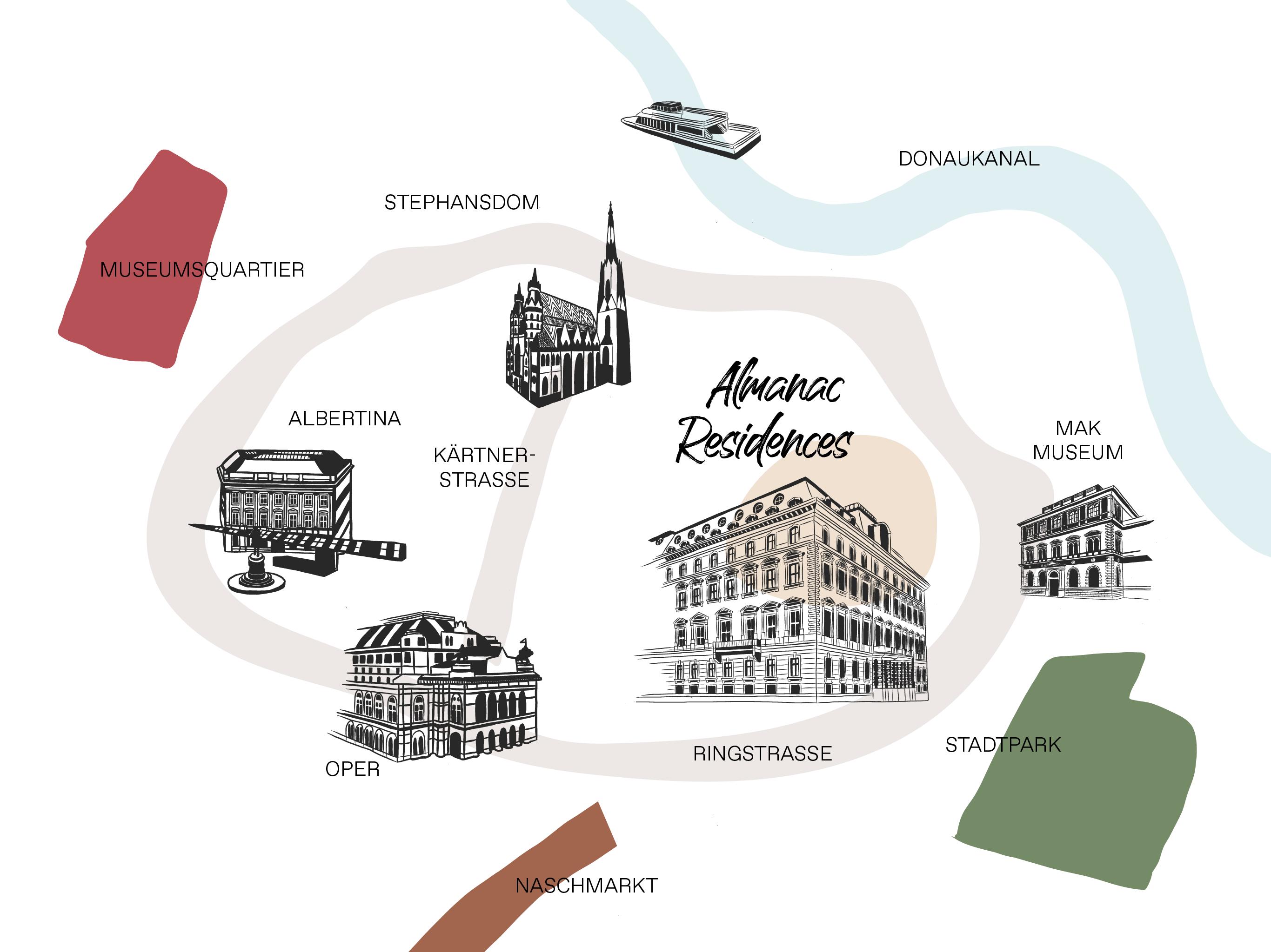 Vienna Location Map